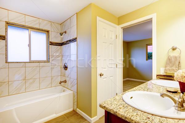 Nieuwe badkamer interieur kers wastafel kabinet Stockfoto © iriana88w