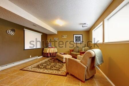 Elegáns hálószoba ív díszített niche fal Stock fotó © iriana88w