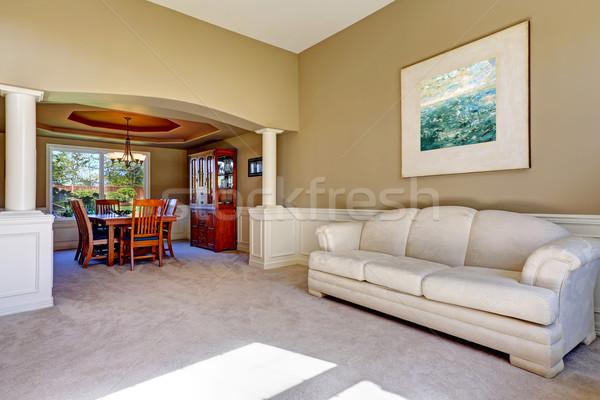 Luxury house interior with white columns Stock photo © iriana88w