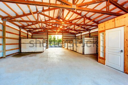 Large garage with concrete floor. Stock photo © iriana88w