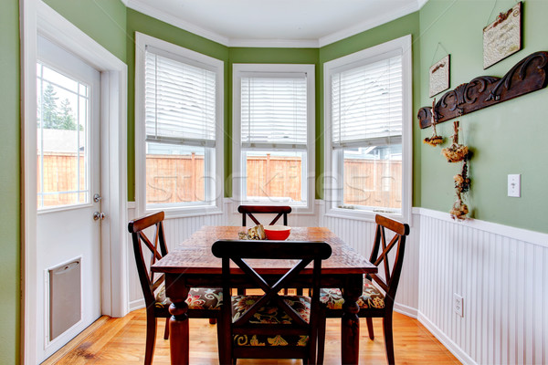 Dining room in light mint colo Stock photo © iriana88w
