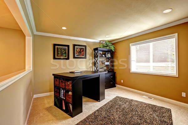 Office area with dark brown furniture Stock photo © iriana88w