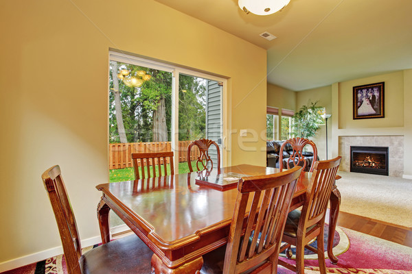 Excellent dinning room with sliding glass door. Stock photo © iriana88w