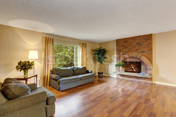 BPerfect hardwood living room. Stock photo © iriana88w