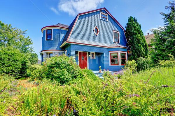 синий дом снаружи красный дома цвета Сток-фото © iriana88w