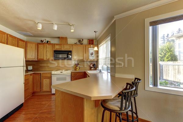 Amerikaanse typisch keuken interieur witte huis Stockfoto © iriana88w