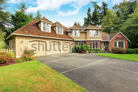 Luxury big house with beautiful curb appeal Stock photo © iriana88w