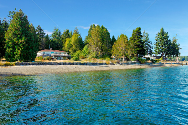 Waterfront house in Northwest with water and fall beach.  Stock photo © iriana88w