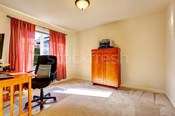 Egyszerű iroda szoba fából készült faliszekrény fény Stock fotó © iriana88w