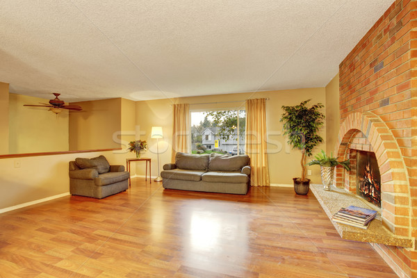 Hardhout woonkamer perfect haard sofa huis Stockfoto © iriana88w