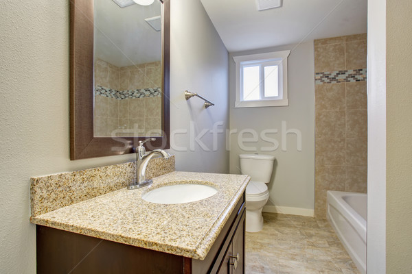 Medium sized bathroom with tile floor. Stock photo © iriana88w