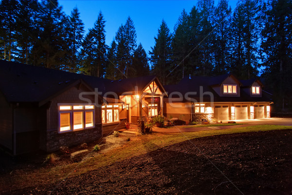 красивой дома дорога большой гаража Windows Сток-фото © iriana88w