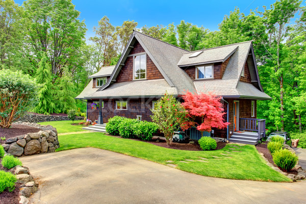 Stock photo: House with beautiful curb appeal