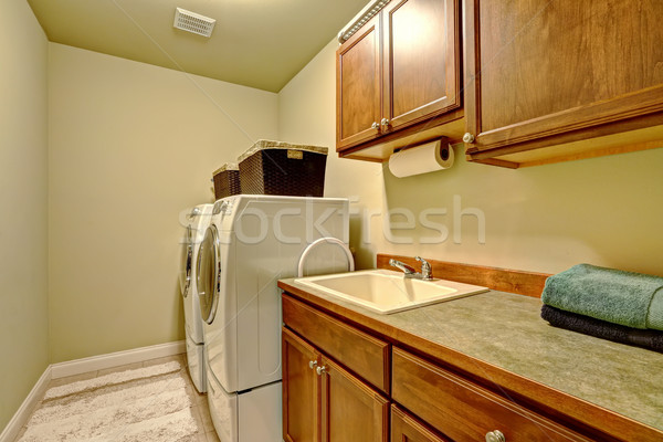 Stock photo: Standard laundry room interior in american house