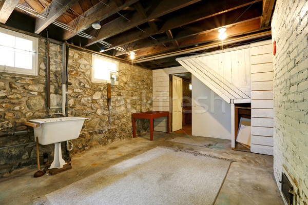Basement room with stone trim walls Stock photo © iriana88w
