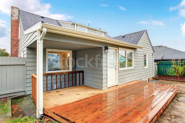 Large back yeard with porch. Stock photo © iriana88w