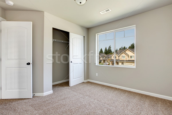New empty room with beige carpet. Stock photo © iriana88w