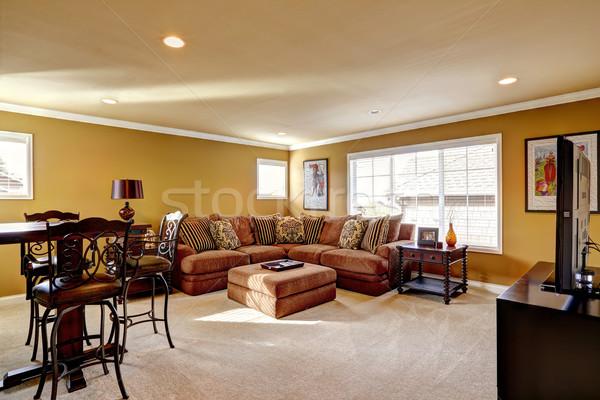 Luxury family room with comfortable sofa Stock photo © iriana88w
