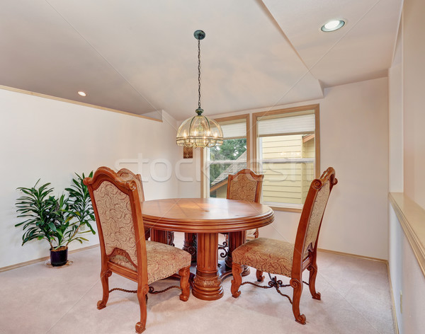 Simplitic dinning room with carpet and window. Stock photo © iriana88w