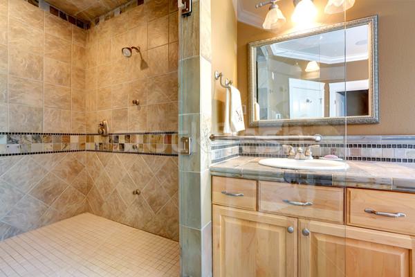 Lusso bagno interni doccia piastrelle muro Foto d'archivio © iriana88w