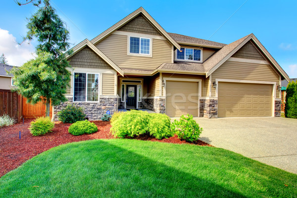Luxury house ith beautiful curb appeal Stock photo © iriana88w