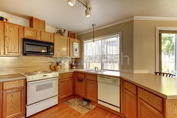 American typical kitchen interior with white appliances. Stock photo © iriana88w