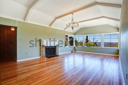Simplistic family room with hardwood floor. Stock photo © iriana88w