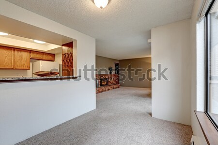 Empty luxury home interior of dining and living room. Stock photo © iriana88w