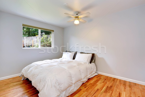 Stock photo: Bedroom interior with comfortable white bed