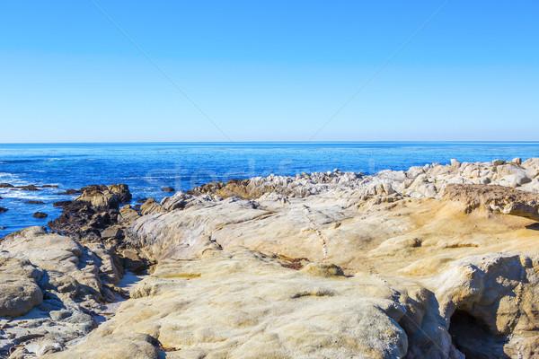 Stones ocean beach. Carmel, California Stock photo © iriana88w