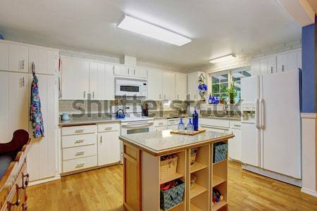 Kitchen room with exit to backyard with jacuzzi Stock photo © iriana88w