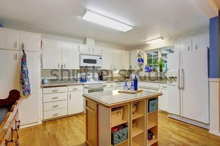 Kuchnia pokój wyjście podwórko jacuzzi jasnoniebieski Zdjęcia stock © iriana88w