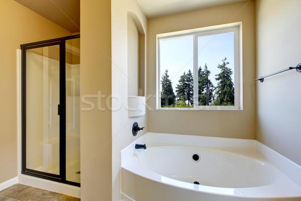 Nieuw huis badkamer douche bad interieur combinatie Stockfoto © iriana88w