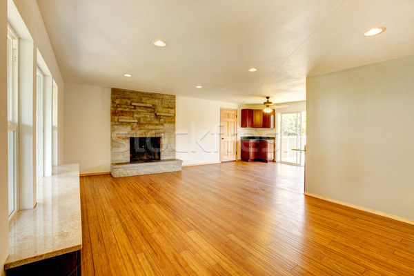 White new large living room with fireplace. Stock photo © iriana88w