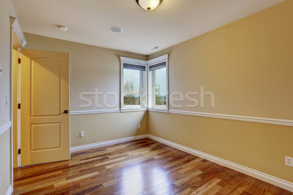 Boş bir oda sarı ev iç lüks Stok fotoğraf © iriana88w