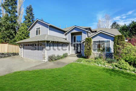 Classic new Northwest American large house exterior. Stock photo © iriana88w