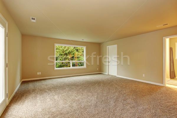 Bútorozatlan hálószoba szőnyeg ablak kapcsolódik fürdőszoba Stock fotó © iriana88w