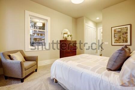 Ikincil oturma odası halı bar beyaz aile Stok fotoğraf © iriana88w