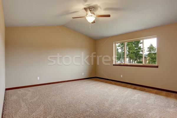 Groot meester slaapkamer tapijt donkere hout Stockfoto © iriana88w
