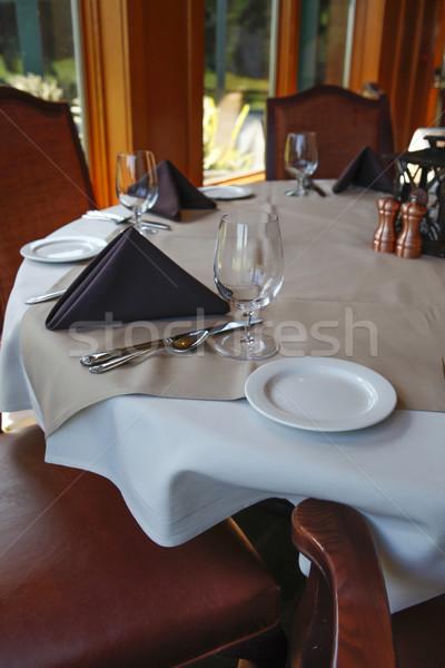 Table dinning setting Stock photo © iriana88w