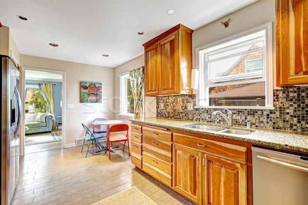 Kitchen room with mosaic back splash trim Stock photo © iriana88w