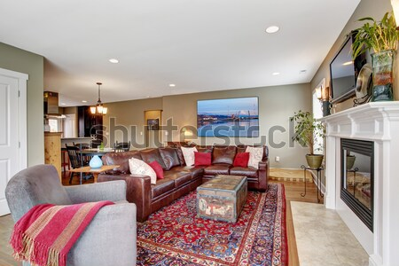 Bright living room in luxury house Stock photo © iriana88w