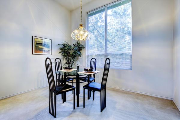 Mały jadalnia czarny tabeli krzesło Zdjęcia stock © iriana88w