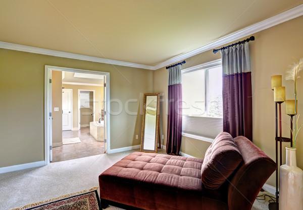 Meester slaapkamer vergadering comfortabel spiegel hoek Stockfoto © iriana88w
