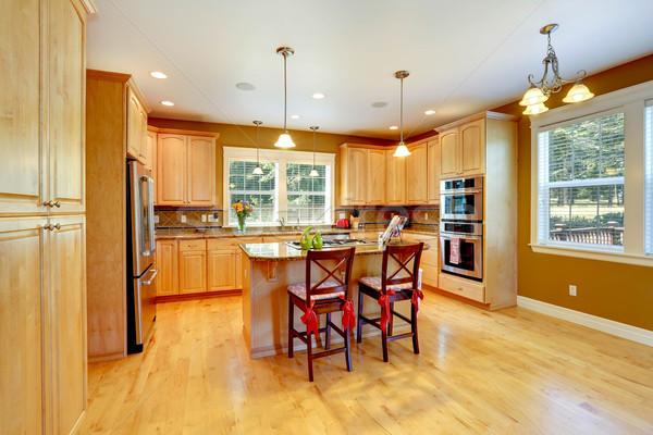 Cocina habitación arce almacenamiento combinación brillante Foto stock © iriana88w