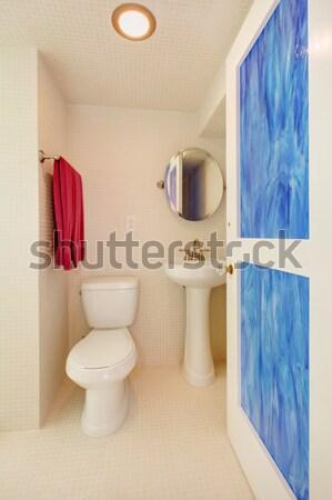 Small half bathroom with hard wood floors. Stock photo © iriana88w