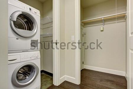 Laundry room with modern red appliances Stock photo © iriana88w
