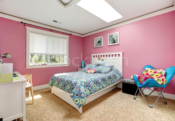 Beautiful pink bedroom for girls Stock photo © iriana88w