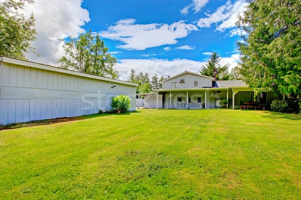 Large countryside house exterior with backyard land Stock photo © iriana88w