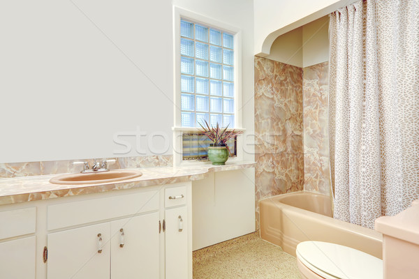 White and beige bathroom Stock photo © iriana88w